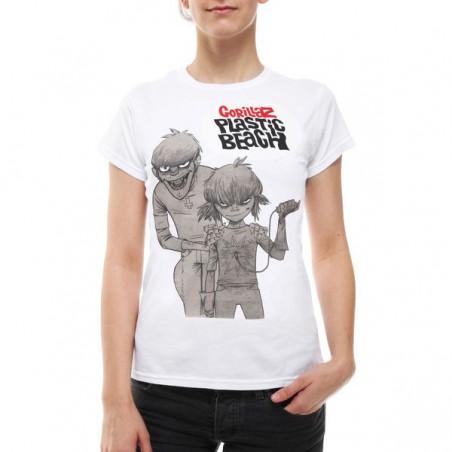 Koszulka Gorillaz - Band Women T-Shirt WHITE - t-shirt