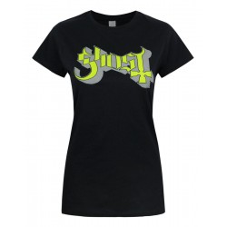 Koszulka Ghost - Green Grey Keyline Logo Skinny Ladies - t-shirt