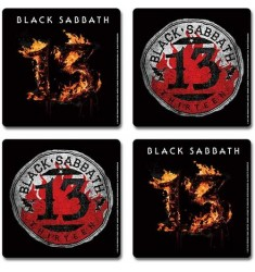 Black Sabbath - 13 (4 podstawki - komplet) Cork Coaster Set