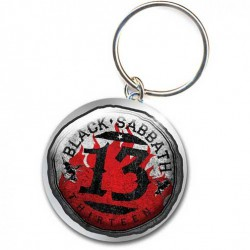 Brelok do kluczy - Black Sabbath - 13 Flame Circle Metal Keychain - Keychain