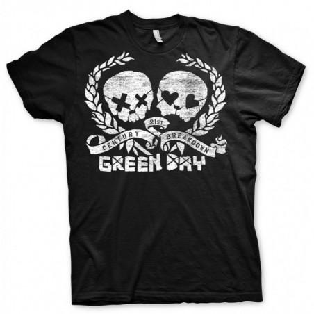 Koszulka Green Day - Distressed Skulz Black - t-shirt
