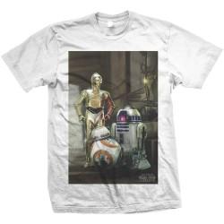 Koszulka STAR WARS MEN'S TEE: THREE DROIDS - Gwiezdne Wojny