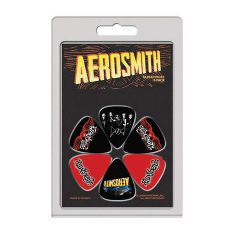Kostki gitarowe AEROSMITH - PICKS 6 PACK - zestaw / komplet kostek gitarowych