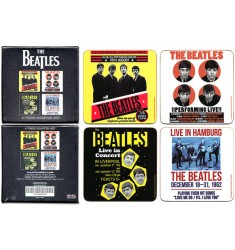 The Beatles - 1962 Individual Cork Coaster