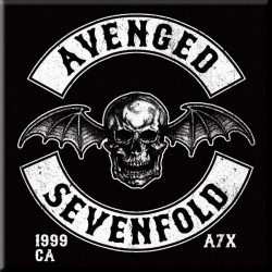 Magnes na lodówkę - AVENGED SEVENFOLD FRIDGE MAGNET: DEATH BAT CREST