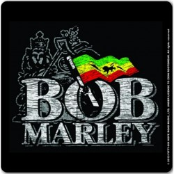 Korkowa podstawka pod kubek - BOB MARLEY SINGLE CORK COASTER: DISTRESSED LOGO