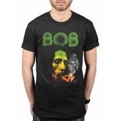 Koszulka Bob Marley - Burning Leaf - t-shirt