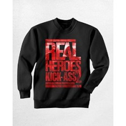 Bluza męska - KICK ASS 2 - REAL HEROES Crew Jumper BLACK