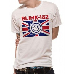 Koszulka męska - BLINK 182 - UK FLAG T-Shirt