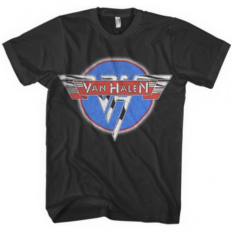 Koszulka męska Van Halen - Black Chrome Logo T