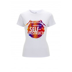 Koszulka METALLICA glitch ball white ladies tshirt