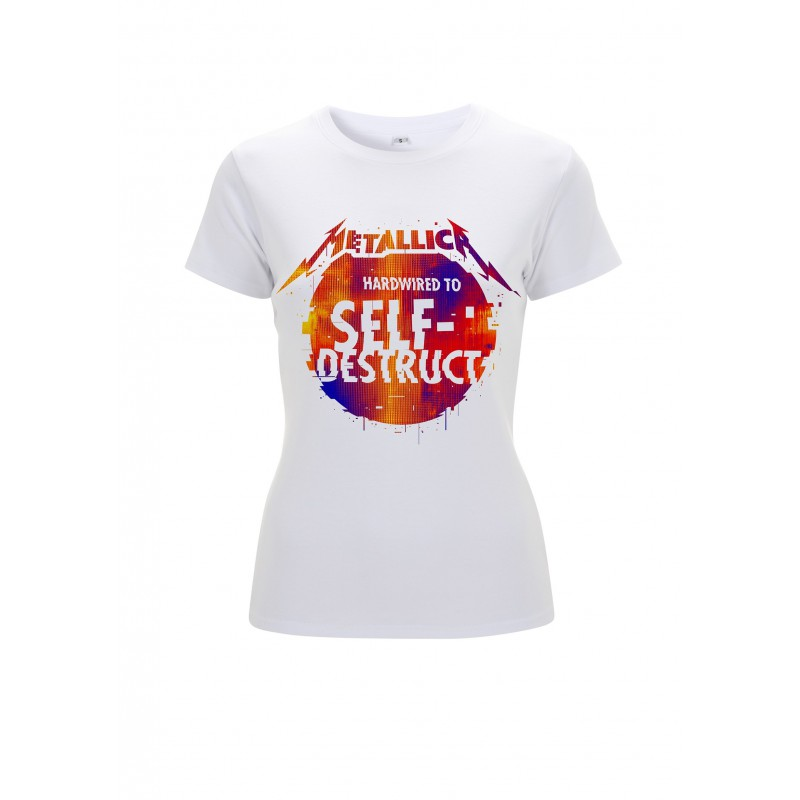 Koszulka METALLICA glitch ball white ladies tshirt
