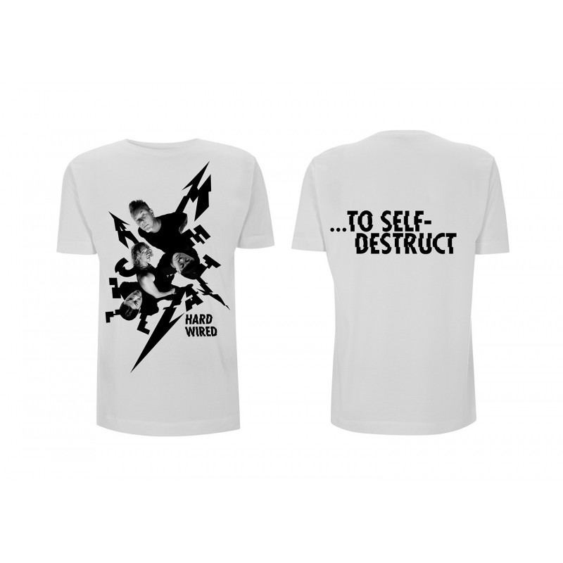 Koszulka METALLICA harwired aerial band white tshirt