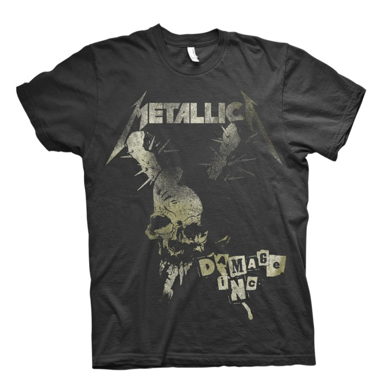 Koszulka Metallica Damage Vintage Black Tshirt