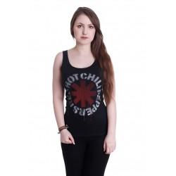 Koszulka damska Red Hot Chili Peppers STENCIL ASTERISKS BLACK LADIES VEST TOP