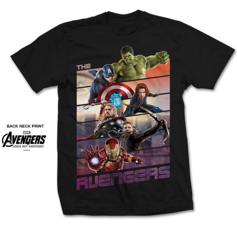 Koszulka Avengers Bars Mens Black