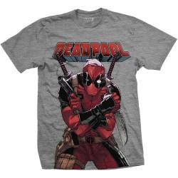 Koszulka Marvel Comics Deadpool Big Print Mens Grey