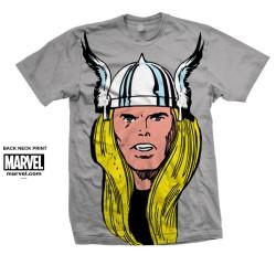 Koszulka Marvel Comics Thor Big Head Mens Grey