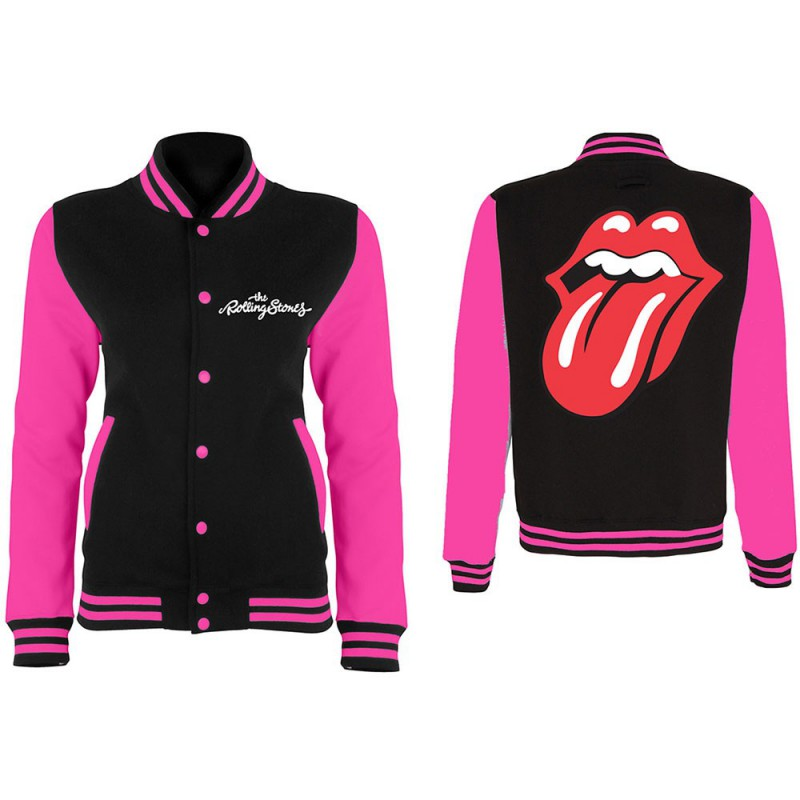 The Rolling Stones Classic Tongue Varsity Jacket