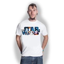 Koszulka Star Wars Space Montage 3 Mens White