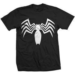 Koszulka Ultimate Spiderman Venom Chest Logo Mens Blk