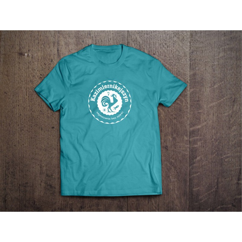 Koszulka Kazimiernikejszyn Logo Męska Niebieska