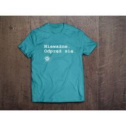 Koszulka Kazimiernikejszyn Nieważne Odpręż Się Niebieska