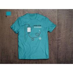 Koszulka Kazimiernikejszyn Wysoki Poziom Bezpinkowości Niebieska