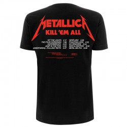 Koszulka T-shirt Metallica Kill 'em all Tracks Czarna