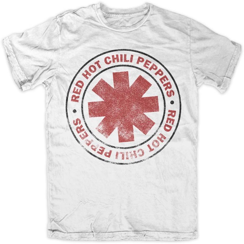 Koszulka T-shirt Red Hot Chili Peppers Vintage Classic biała