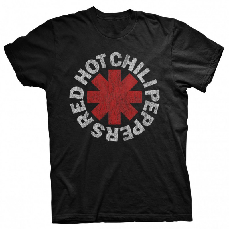 Koszulka T-shirt Red Hot Chili Peppers Distressed Asterisk czarna