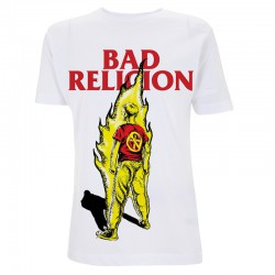 Koszulka T-shirt Bad Religion Boy on Fire biała