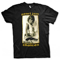 Koszulka T-shirt Peral Jam Choices - czarna