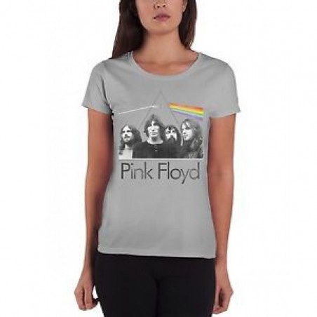 Koszulka Pink Floyd - DSOTM Band in Prism Grey Ladies - t-shirt