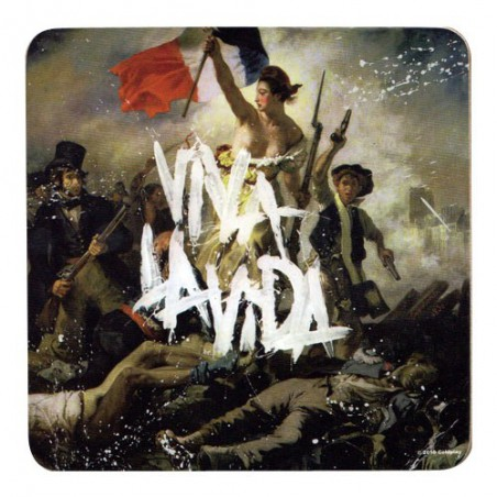 COLDPLAY - Viva La Vida Album Cover Individual Cork Coaster